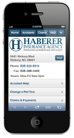 m.habererinsuranceagency.com website preview